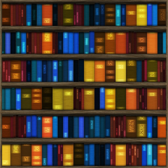 Seamless, Texture, Background, Books, Bookshelf