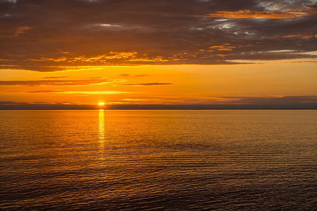Sunset, Sea, Horizon, Ocean, Seascape, Dusk, Twilight