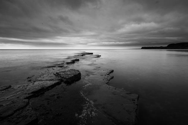 Kimmeridge, Rock, Seascape, Sea, Dorset, England, Coast