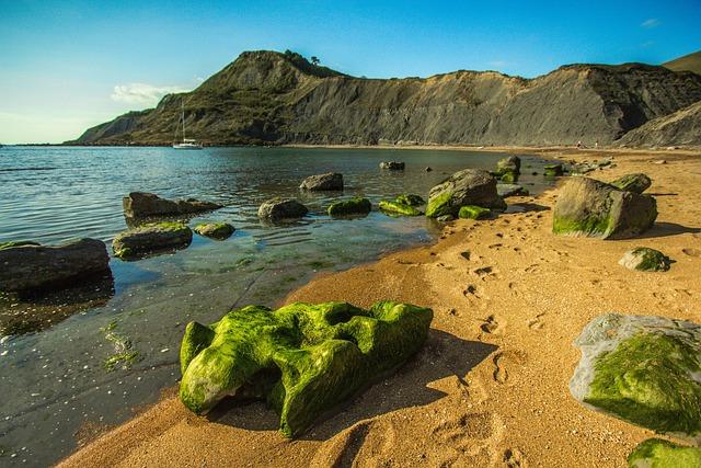 Seascape, Rocks, Dorset, Stones