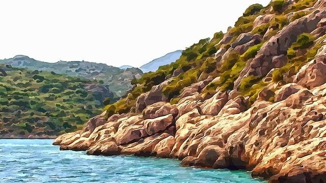 Boat Trip, Sea, Island, Seascape, Journey, Rock