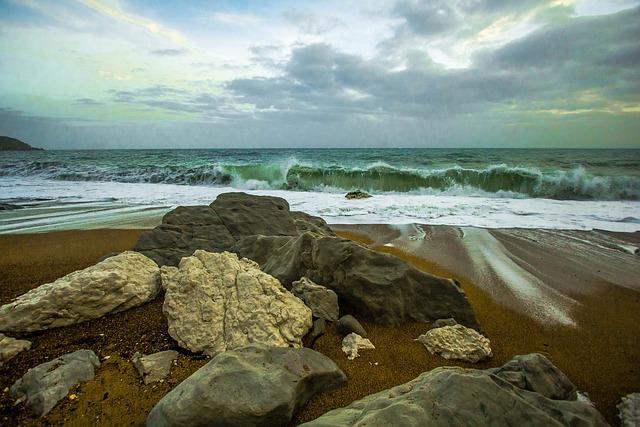 Worbarrow Bay, Waves, Ocean, Nature, Seascape, Shore