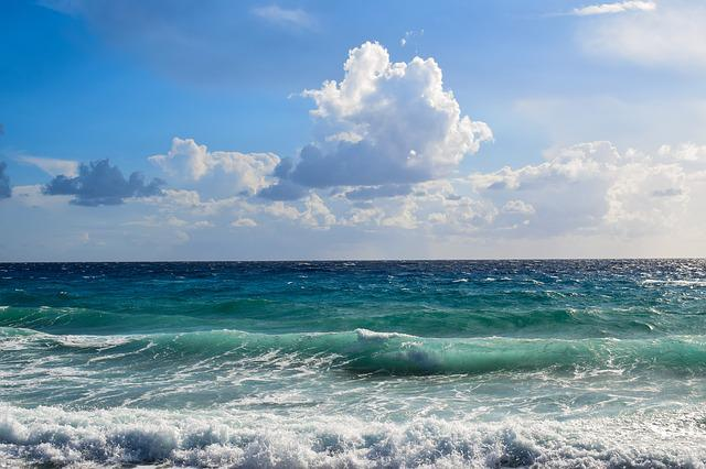 Seascape, Sea, Waves, Sky, Clouds, Nature, Beach