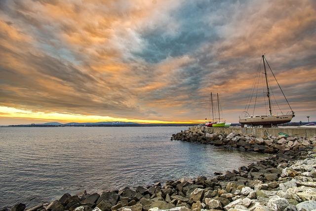 Water, Sea, Sky, Cloud, Seashore, Primorsko, Bulgaria