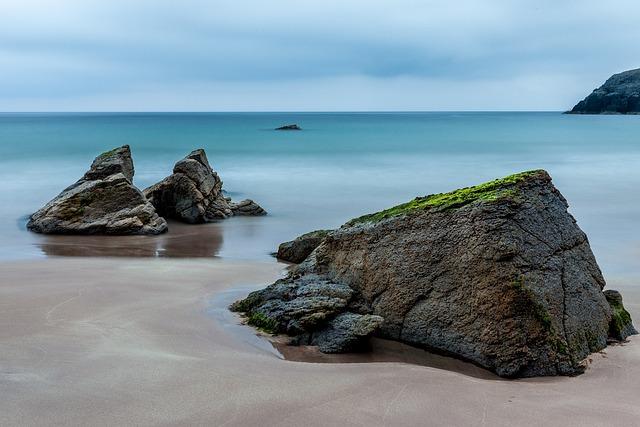 Rocks, Sand, Sea, Ocean, Beach, Shore, Seashore, Coast