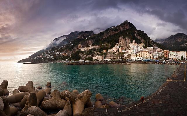 Amalfi, Sea, Seaside Town, Seaside