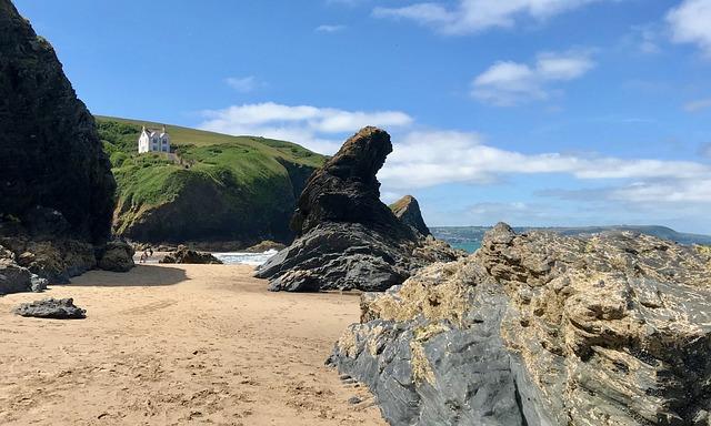 Llangrannog, Ceredigion, Wales, Beach, Seaside, Coastal