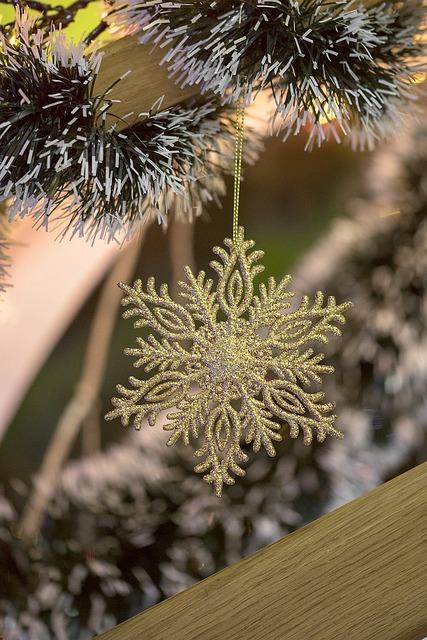 Closeup, Season, Holiday, Decoration, Shiny, Christmas