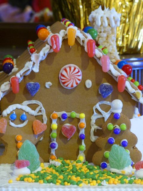 Ginger Bread, House, Seasons, Holidays, Christmas, Xmas