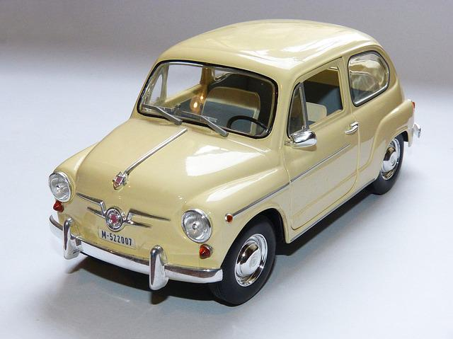Toy, Car, Seat 600, Miniature