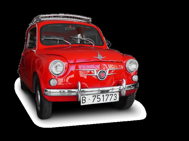 Car, Vintage, Old, Seat 600, Minicar