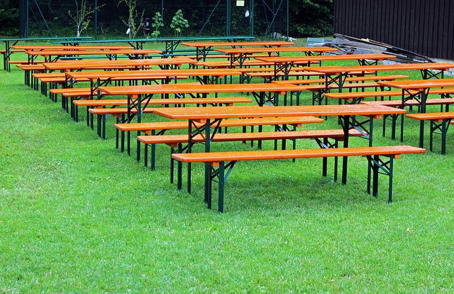 Seat, Beer Garden, Seating, Benches, Dining Tables
