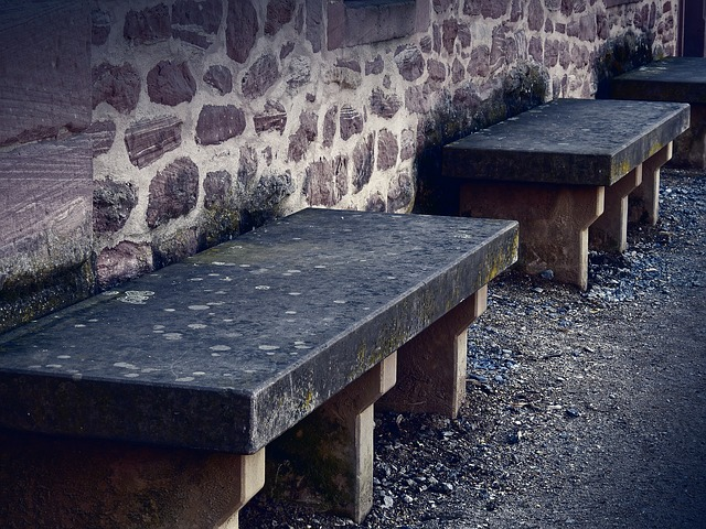Bank, Sit, Bench, Seat, Rest, Stone, Wall, Old