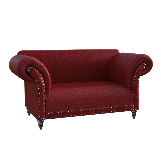 Couch, Red, Sofa, Leather, Rivets, Sit, Seat, Furniture