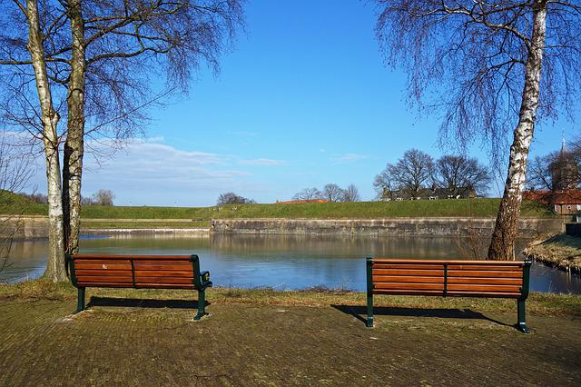 Wooden Bench, Bench, Wood, Seat, Sitting, Relax, Water
