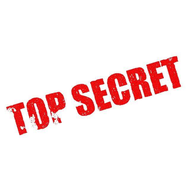 Top Secret, Classified, Confidential, Secrecy, Private