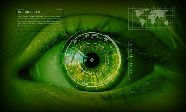 Security, Safety Concept, Eyes, Iris Scan, Iris