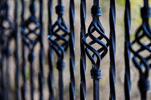 Fence, Railing, Wrought Iron, Barrier, Security
