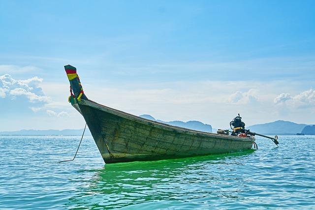 Boat, Ship, Tropical, Old, See, Trip, Landscape, Blue