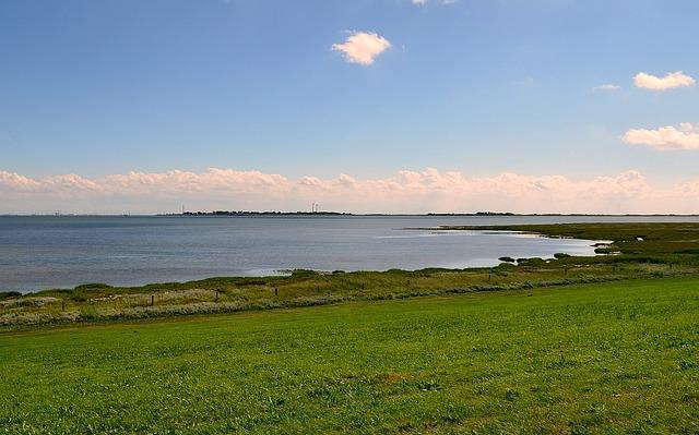 Seedeich, View Of Port Borkum, North Sea