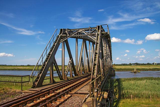 Railway Bridge, Seemed, River, Eider, St Annen
