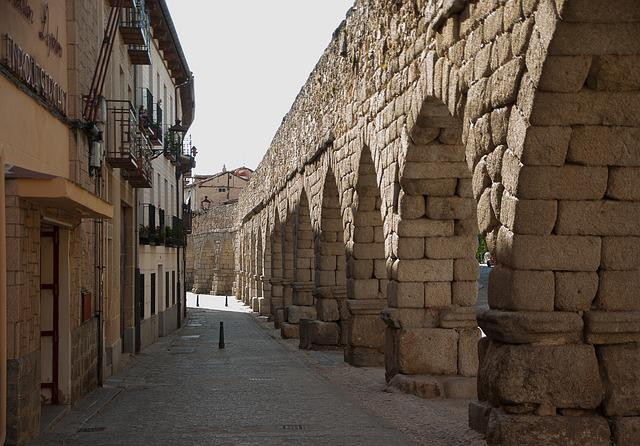 Spain, Segovia, Aqueduct, Romans