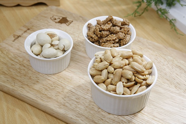 Peanut, Snacks, Roasted, Bowls, Selection, Nuts