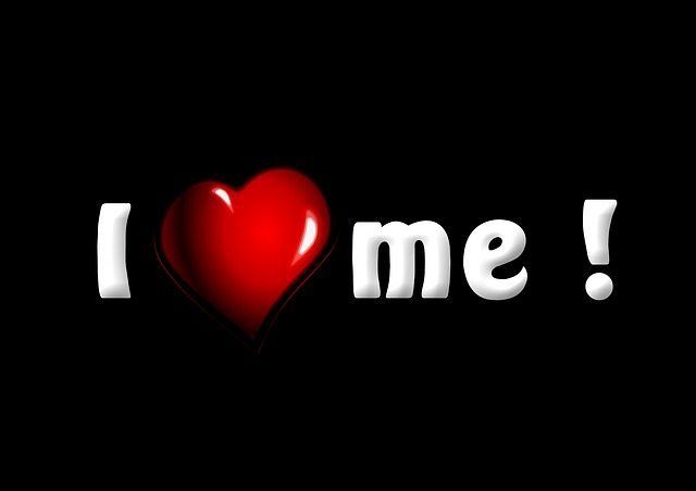 I Love Myself, Text, Words, Love, Me, Self, Heart, Red