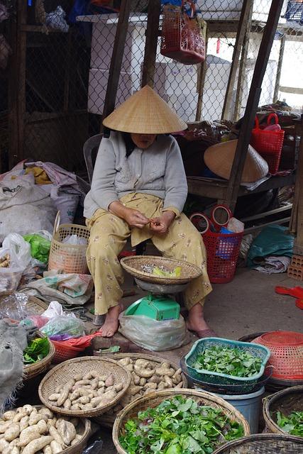 Vendor, Vegetables, Market, Seller, Leafy, Tubers