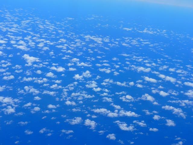 Sky, Clouds, Space, Blue, White, Flight, Selva Marine