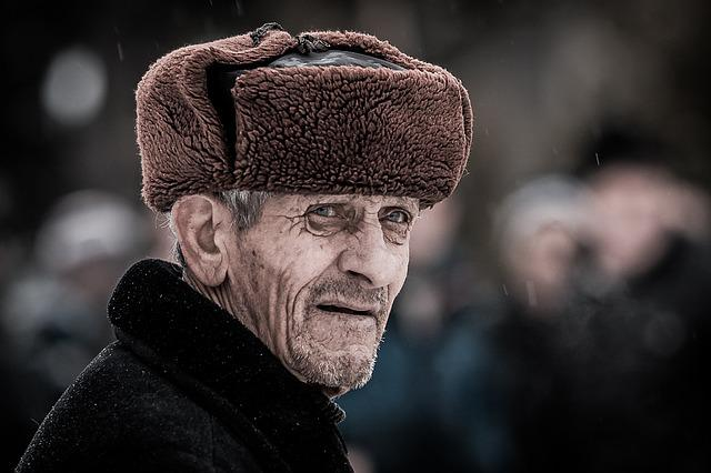 Old Man, Ushanka, Russian, Man, Elderly, Senior, Aged