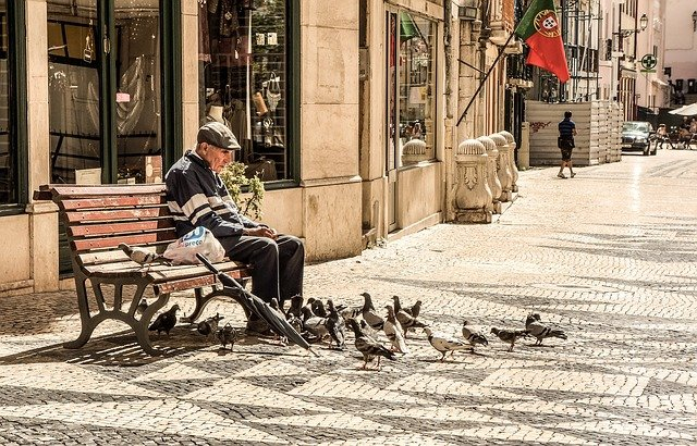 Old, Man, Elderly, Senior, People, Bench, Sitting