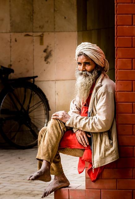 Old Man, Turban, Indian, Man, Senior, Elderly, Aged