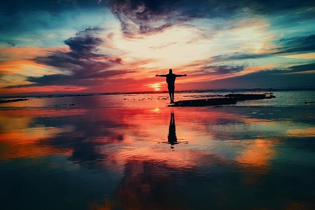 Ocean, Sunset, Person, Silhouette, Freedom, Seo, Beach