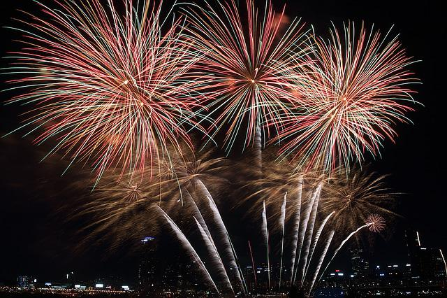 Seoul International Fireworks Festival, The Night Sky