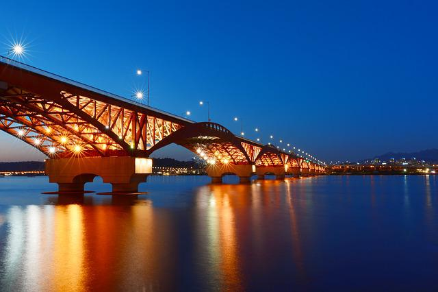 Bridge, Korea, Republic Of Korea, Seoul, Han River