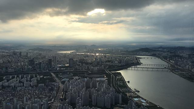 Seoul, South Korea, Lotte, Tower, Sunset, Asia, Travel