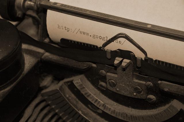 Typewriter, Retro, Sepia