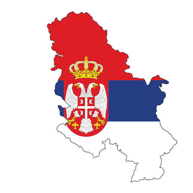 Serbia, Map, Flag, Contour, Borders, Country, Europe