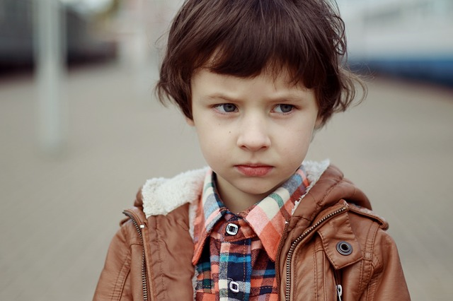 Portrait Of A Boy, Boy, Frowning, Serious, Person