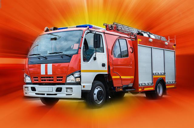 Fire, Truck, Emergency, Red, Service, Engine, Vehicle