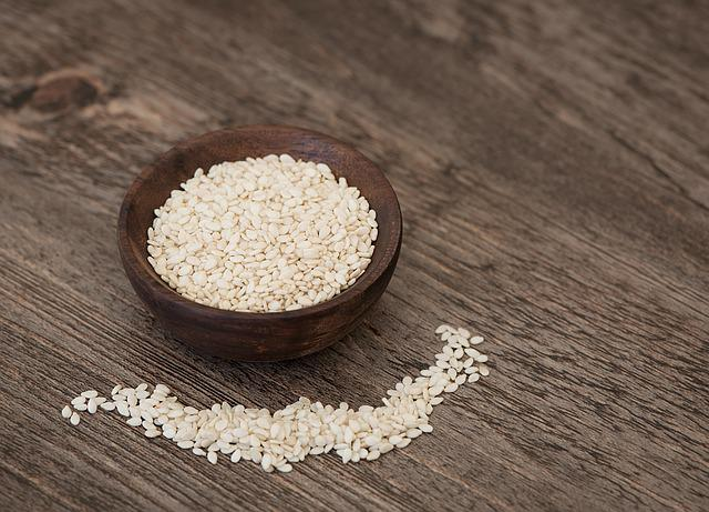 Sesame, Sesame Seeds, Seeds, Bowl, Holzschüsselchen