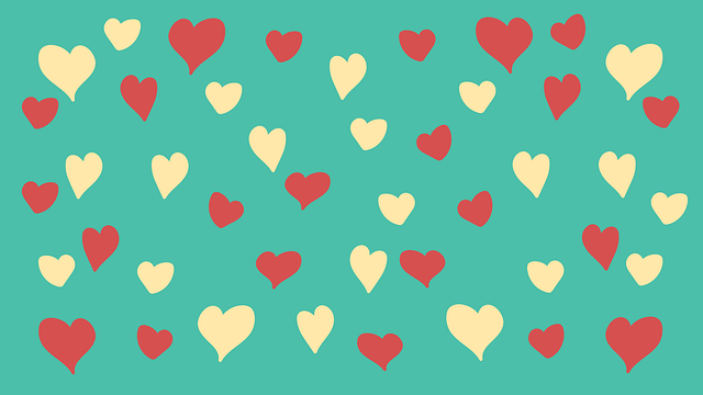 Love, Heart, Set, Seamless, Pattern, Wallpaper
