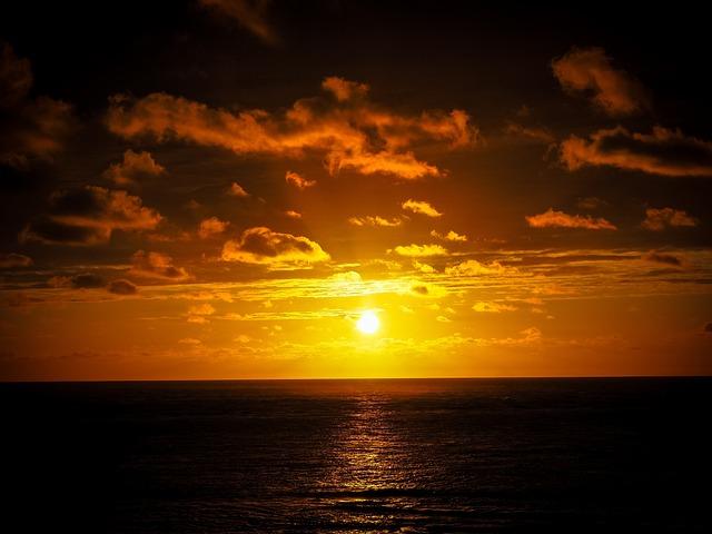 Sunset, Sun, Abendstimmung, Setting Sun, Sun And Sea