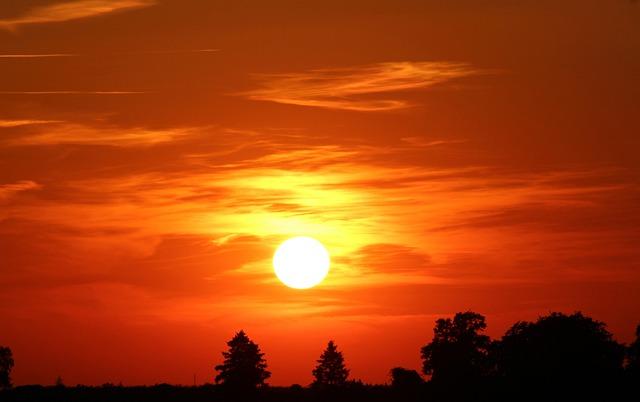 Sunset, Sun, Abendstimmung, Setting Sun, Sky, Afterglow