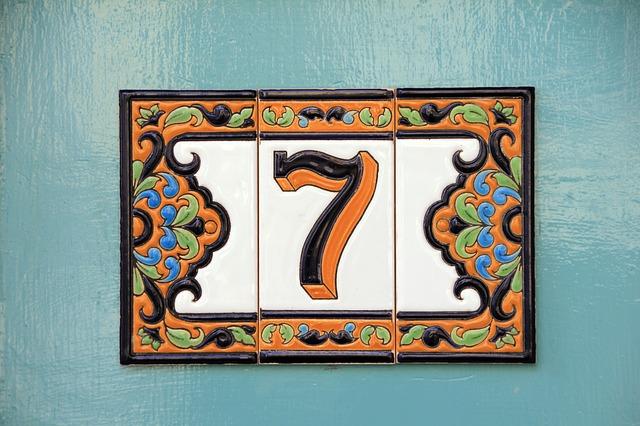 Number, Seven, House Number, Tiles, Tile, Pattern