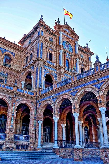 Plaza De Espania, Palace, Seville, Historic, Famous