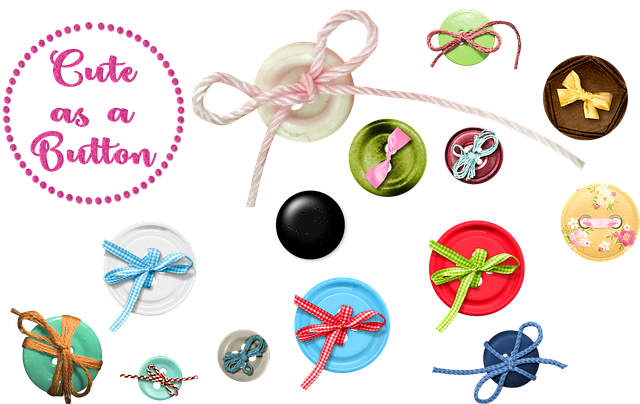Sewing Button, Button, Ribbon, Thread, Sew, Sewing