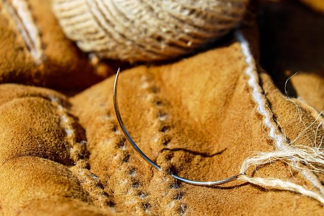 Needle, Round Needle, Metal, Cord, Leather, Sew