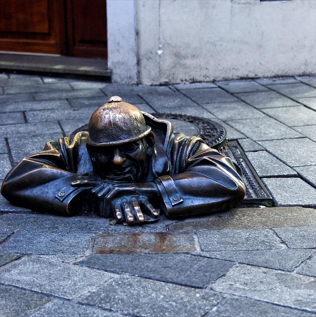 Bratislava, Plate, Sewer, Plate Sewer, Bronze, Urban